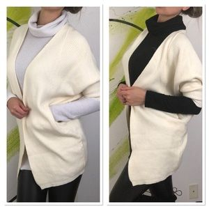 New cashmere wool open cardigan sweater batwing